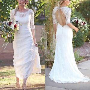 Women-Perspective-Backless-Dress-Gown-Long-Trailing-Slim-Bridal-Wedding-Dress