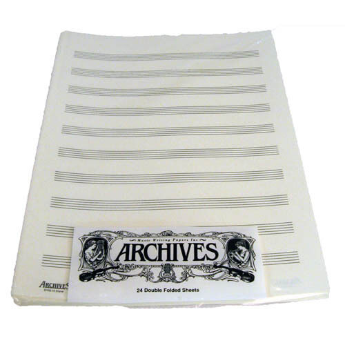 10 Stave D/'Addario D10S Archives Music Sheets 24 Sheets