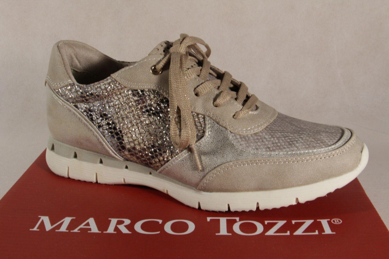 100% nuovo di zecca con qualità originale Marco Tozzi Scarpe con Lacci Scarpe Scarpe Scarpe da Ginnastica Basse Beige 23703 Nuovo  autorizzazione