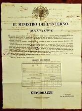 G72-DUCATO DI MODENA E REGGIO, GUASTALLA, LINEA TELEGRAFICA, 1852