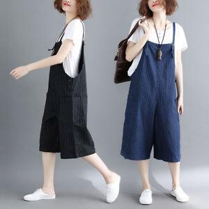600501bddbf3 Womens Casual Denim Overalls Bib Pants Wide Leg Jumpsuits Jeans ...