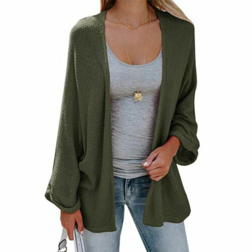 Women/'s Fashion Long Sweater Bat Sleeve Knit Cardigan Tops Solid Color Casual