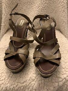 DUNE Ladies Wooden Platform Sandals
