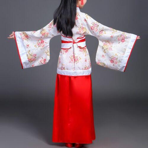 Kids Girls Chinese Han Fu Costume Dynasty Princess Dress Dramaturgic Traditional