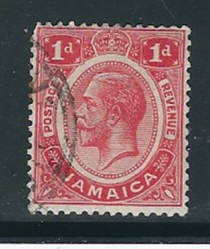 Jamaica Stamps- Scott # 61/A17-1p-Canc/LH-1911-NG
