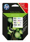 HP 950XL/951XL Kit 4 Cartucce di Inchiostro - Nero, Ciano, Magenta, Giallo (C2P43AE)