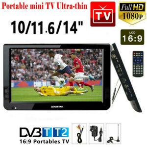"10""/11.6""/14"" 1080P HDMI HD USB Car 12V Portable Digital Analog ATV TV Player"
