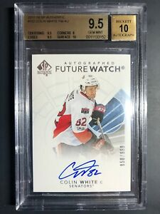 2017-18 SP Authentic Colin White Future Watch Auto Rookie /999 BGS 9.5
