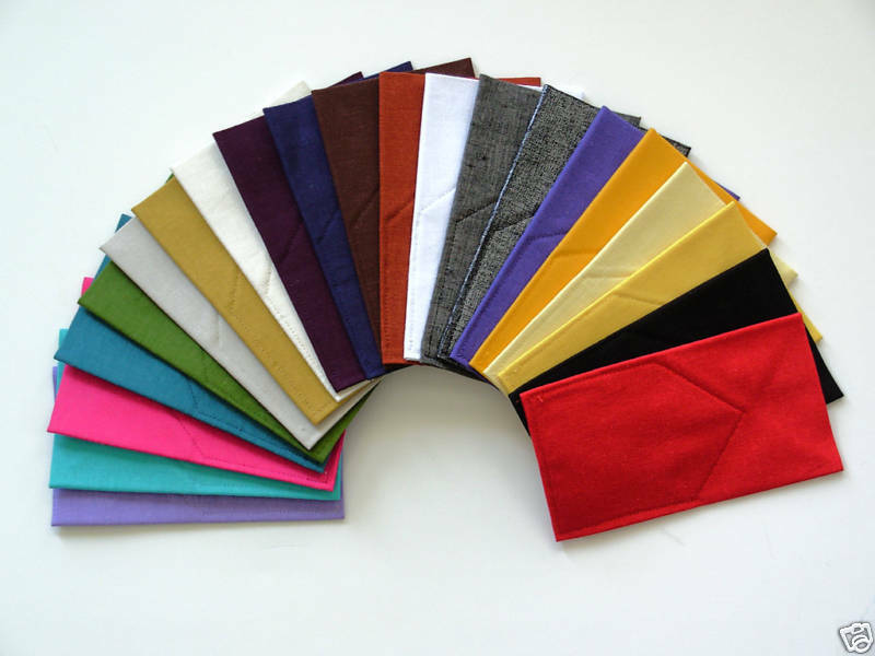 POCKET SQUARE Linen Flat Top CUSTOM Pre-folded & Sewn