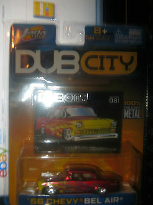 1956 CHEVY BEL AIR #081 2004 JADA DUB CITY 1:64 JG