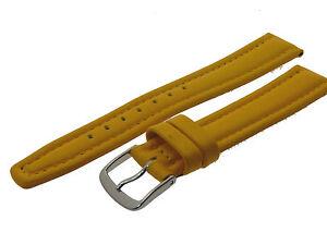 # L037 # Uhrenarmband Armband Leder Bracelet Leather Juwelier QualitÄt 18 Mm Reinweiß Und LichtdurchläSsig