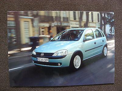 GroßZüGig Opel Corsa Presse-foto Werk-foto Pressfoto 05/2001 o0035 Reines Und Mildes Aroma