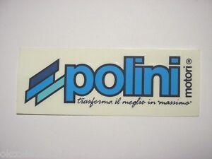 Vecchio-Adesivo-da-Collezione-Old-Sticker-POLINI-MOTORI-cm-12-x-4-blu