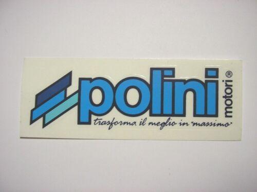 Vecchio Adesivo da Collezione /Old Sticker POLINI MOTORI (cm 12 x 4) blu