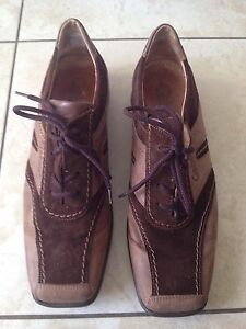Gabor-Sport-Ladies-Brown-Trainer-Style-Shoes-Size-5-1-2-Good-Condition
