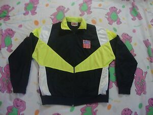 29e6160f9fb36 Vintage NiKE Gray Tag USA olympics Zip Up Black Track Jacket Men's ...