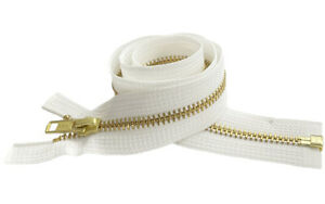 10pcs-Metal-Zipper-Bulk-YKK-5-Brass-Medium-Weight-Separating-6-034-150-034
