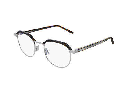 2019 Mode Gestell Optische Brille Saint Laurent Authentic Sl 124 Havanna Metall 005