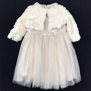 2afd1d259 Pippa   Julie Glitter Dress Set Size 12 Mo Baby Girl Gold Glitter ...