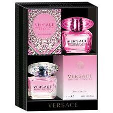 Versace Perfume Absolu EDP  / Bright Crystal EDT Duo Mini Set 5ml 0.17 fl oz NIB