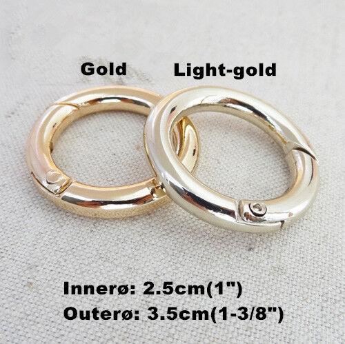 """Snap Clip Trigger Spring Gate O Anneau porte-clés Boucle Sac accessoires Anneaux 3//4/"""" 1/"""""""