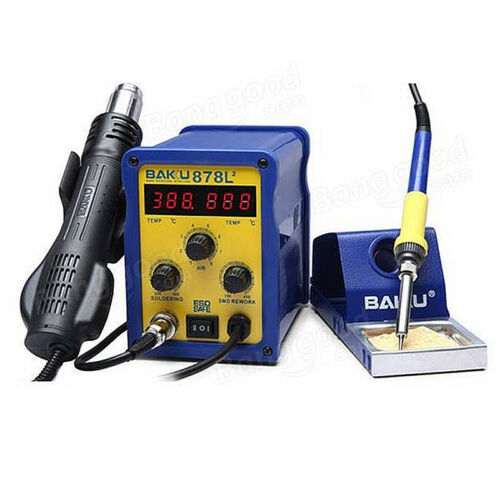 BK-878L2 700W 220V  2 in 1 Rework Station Soldering Iron and Hot Air Tool   !