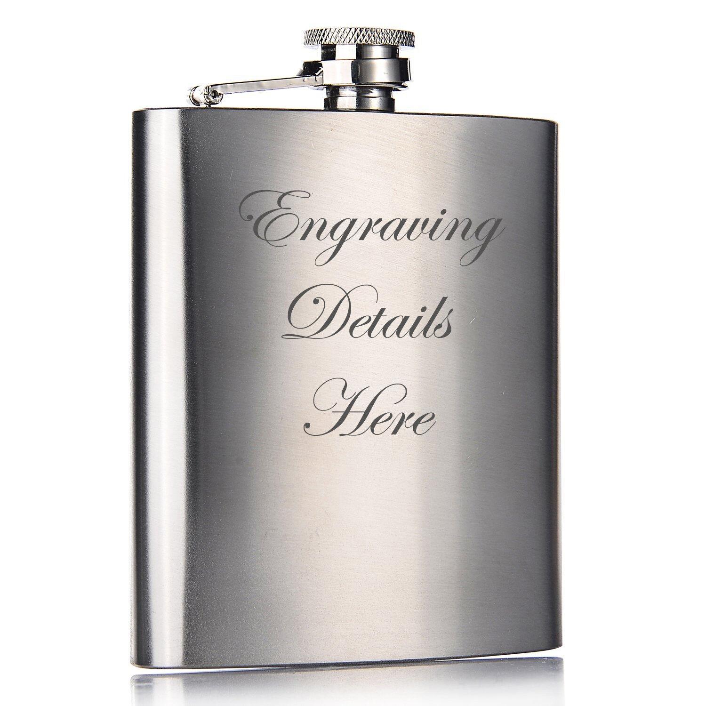 Personalised Engraved 6oz Hip Flask Mens Wedding Usherbest Man