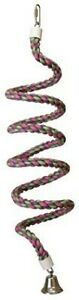 DICKY-BIRD-TOYS-MEDIUM-213CM-SPIRAL-BUNGEE-ROPE-PARROT-PERCH-FREE-POSTAGE-OFFER