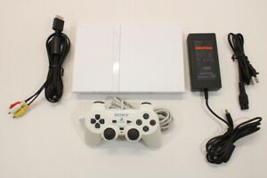 Sony PS2 SCPH-70000 White Slim Console Cont AC AV Bundle Japan Import 2PC91
