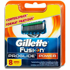 8 Gillette FUSION PROGLIDE POWER Rasierklingen OVP Neue Modell & Original !!!