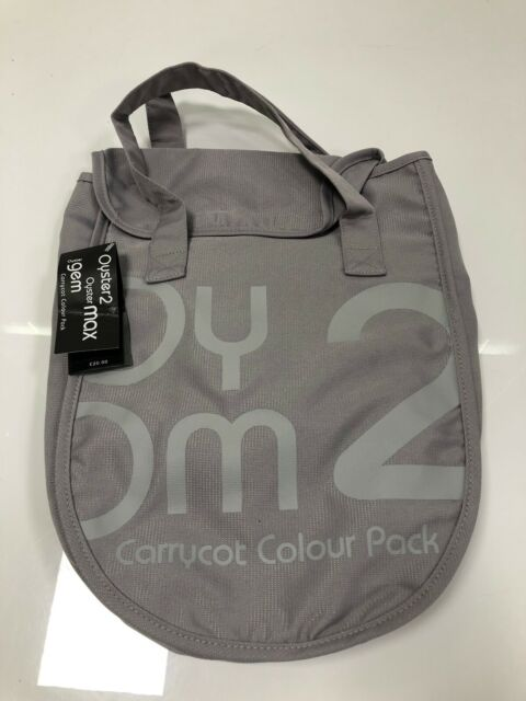 Oyster MaxGem Carrycot Slate Grey, Pack of 2