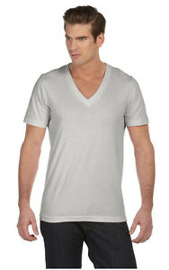 Canvas Mens NEW Size XS-2XL Delancey 3005 Short Sleeve V-Neck Tee T-shirt
