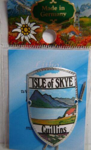 Scotland Isle of Skye Cuillins new mount stocknagel hiking medallion G9764