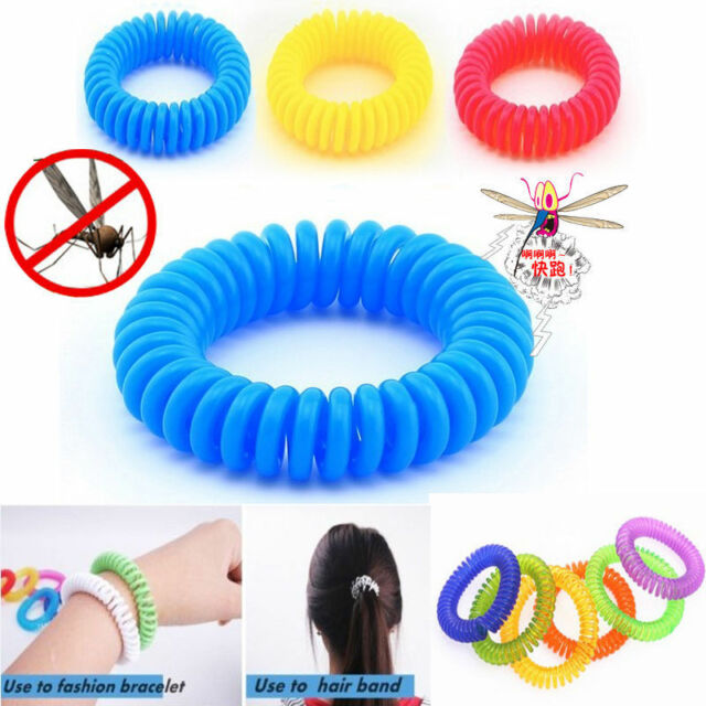 10x Anti Mosquito Insect Repellent Bracelet Natural Waterproof Spiral Wrist Band