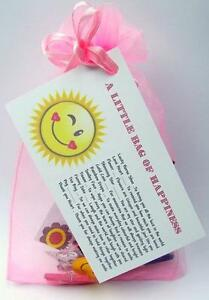 little bag of happiness personalised birthday present happy novelty
