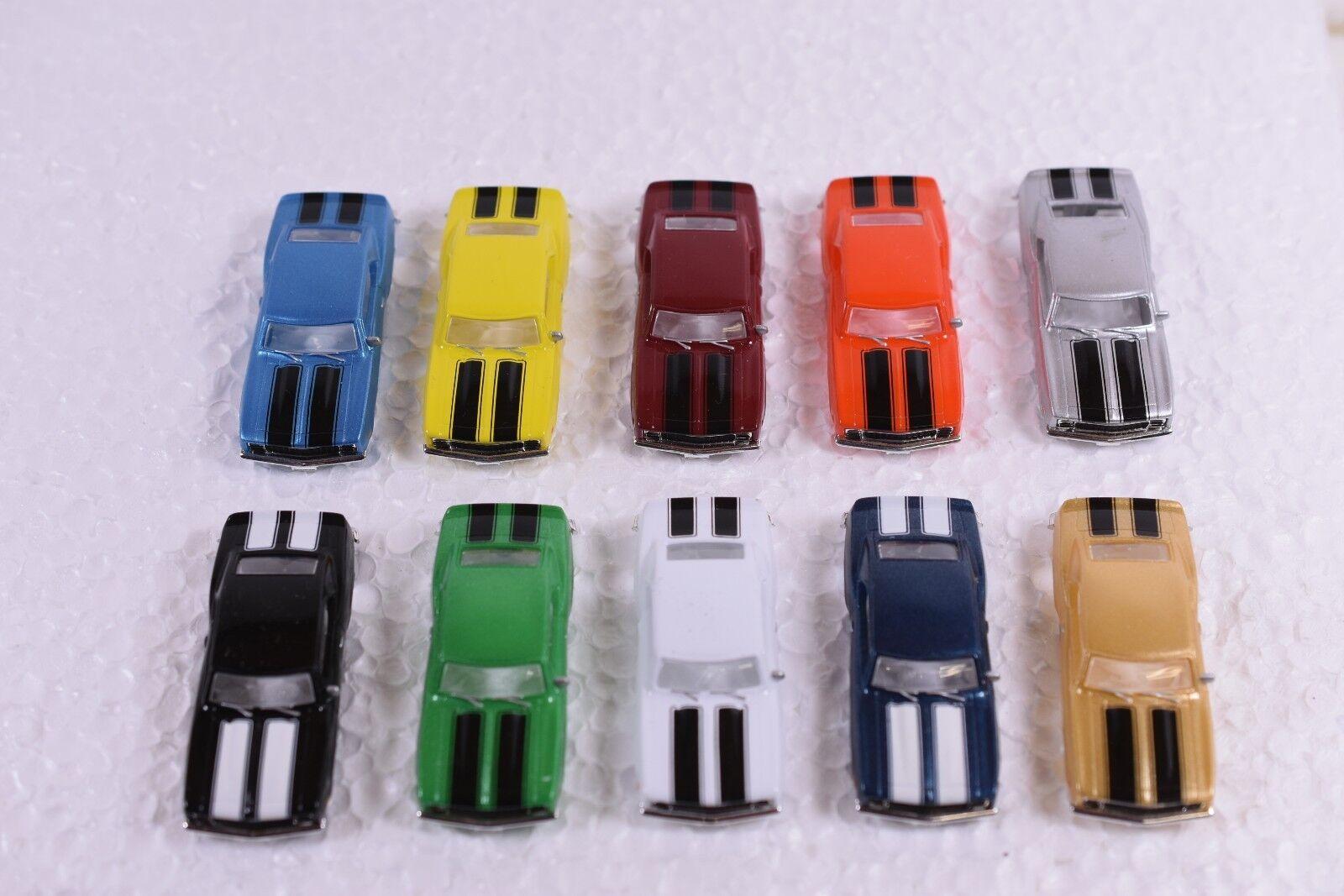 nueva marca 1/Conjunto de 10 10 10 cuerpos Ho Para Thunder-Jet Aurora Chasses 10 Camaro cuerpos, 10 Colores  seguro de calidad