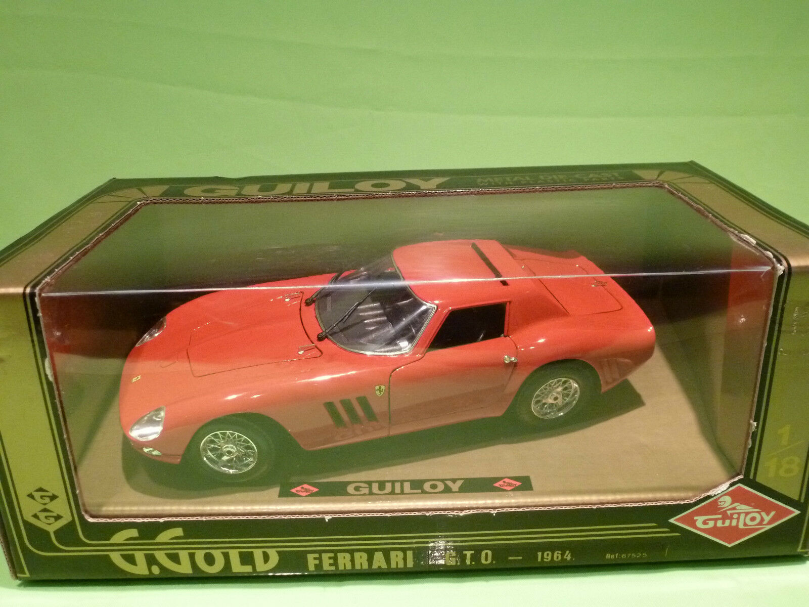 GUILOY 67525 FERRARI GTO 1964 - 1 18 - NEAR MINT CONDITION IN BOX
