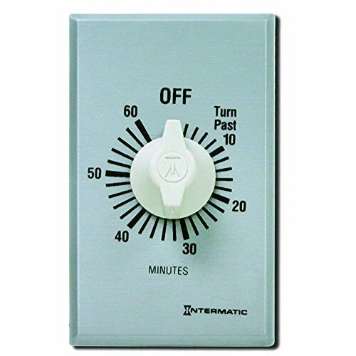 Easy to Install 60-Minute Saving Spring Wound Countdown Wall Timer