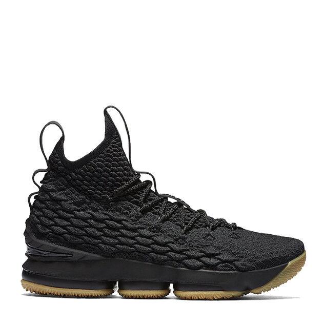 Nike LeBron 15 XV Black Gum Size 13. 897648-001.