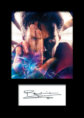 FREE DELIVERY BENEDICT CUMBERBATCH #4 A5 Signed Mounted Photo Print