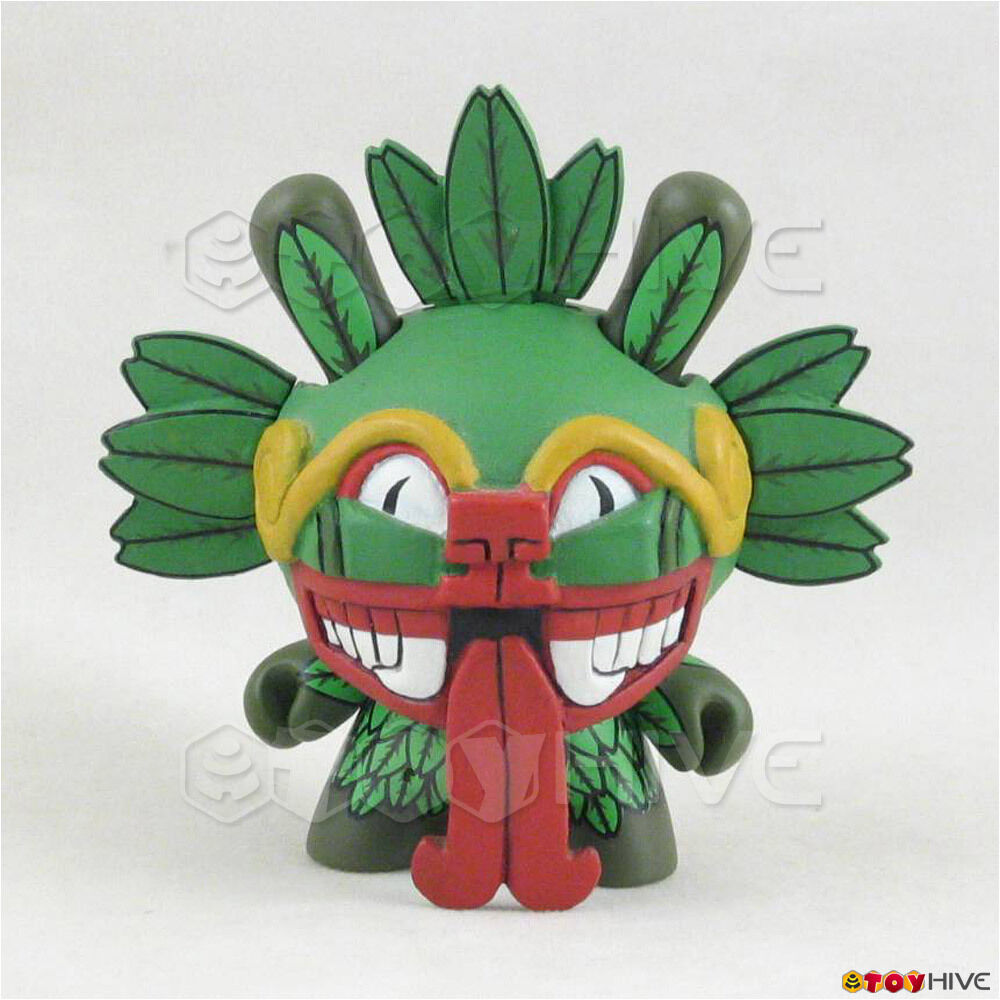 Kidrobot Dunny 2007 Azteca Series vinyl figure by The Beast Bredhers loose