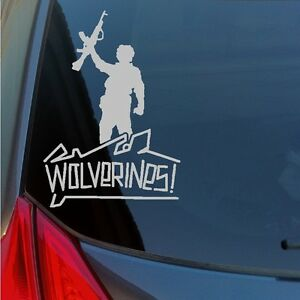 Wolverines-vinyl-sticker-decal-red-dawn-Soviet-communist-war-rebel-school-AK-47
