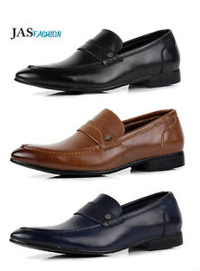 Mens-Slip-On-Formal-Work-Smart-Dress-Shoes-Casual-Loafers-Office-Designer-Size