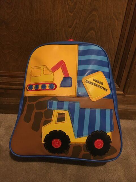 Tractor Boys Blue Preschool Toddler Kids Backpack /& Lunch Box Set