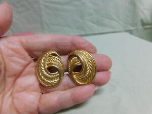 Trifari Gold Tone Clip Ons