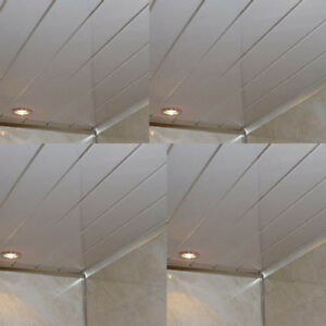 8 Plain White Gloss PVC Bathroom Cladding Shower Wall Panels