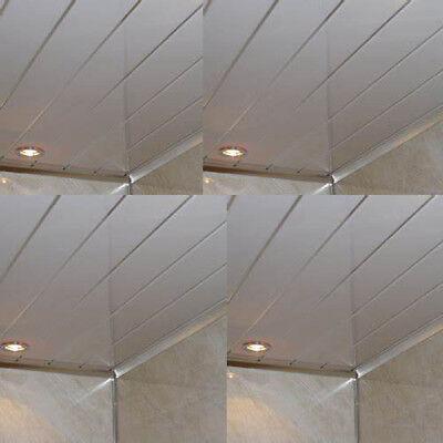 Gloss White 2 Strip Bathroom Cladding Ceiling Panels Pvc