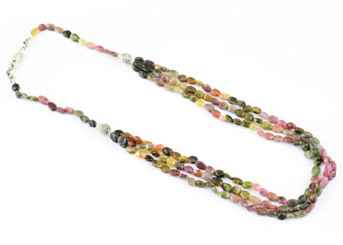 BEST TOP SELLING AAA 208.60 CTS NATURAL WATERMELON TOURMALINE BEADS NECKLACE