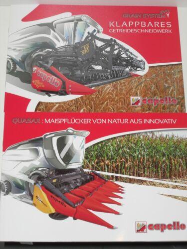 capello QUASAR Mahdrescher Maispflücker 39 Getreideschneidwerk Prospekte