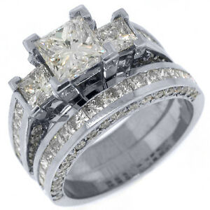image is loading 3 5 carat diamond engagement ring wedding band - Engagement Ring And Wedding Band Set